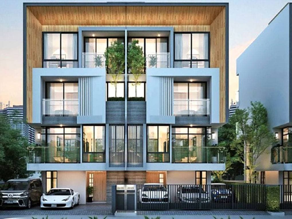 luxury townhome looks expensive
